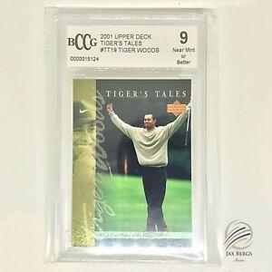 ⛳️2001 Upper Deck Tiger's Tales #TT19 Tiger Woods Rookie BCCG 9 Near Mint/Better