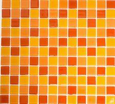 Mosaico Tessere Traslucido vetro Cristallo giallo arancio rosso 62-0802 |1foglio