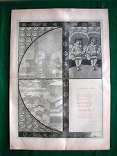 Incisione enorme-1886,A Traverso i vetri, illustrazione Sezanne e versi di Ricci