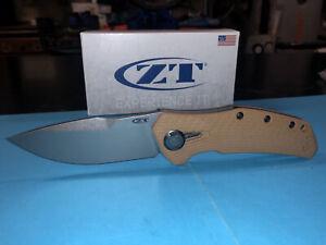Messer Zero Tolerance ZT 0308 Titanium-G10  CPM 20CV NIB