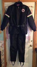 Vintage~ARCTIC CAT~WEAR~2-Pc~SNOW~Mobile~SUIT~Jacket~Coat~Pants~BIB~Medium~Heavy