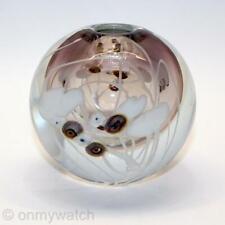 Beautiful SIGNED Vintage MARY ANGUS 🇺🇸 Vase ArT GLaSs Studio FLORAL 1980 Vines