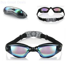 Swimming Goggles No Leaking Anti Fog UV Protection with Free Protection Case New