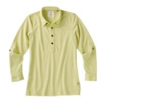 LinkSoul Women's Roll Up Long Sleeve Golf Shirt Size S Small LSW138 Citron S333