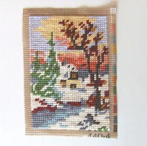 Gobelin Stickbild fertig gesticktes Bild Landschaft Handarbeit