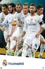 REAL MADRID - 2016 PLAYERS POSTER - 22x34 FOOTBALL SOCCER RONALDO 14326