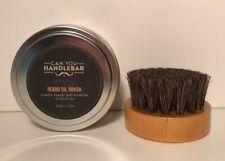 Can You Handlebar Beard Oil Brush Wooden Handle Horse Hair Made In USA