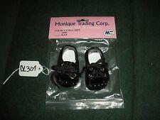 1 Pair 720B Monique Trading Size 68MM Black Boy Doll Tie Dress Shoes DL307