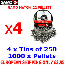 GAMO MATCH .22 Airgun Pellets 4(tins)x250pcs