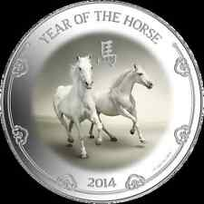 2014 Niue Island  1oz  Silver Year of the Horse Lunar series coin