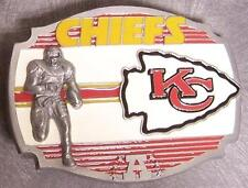 NFL Pewter Belt Buckle Kansas City Chiefs NEW Montage