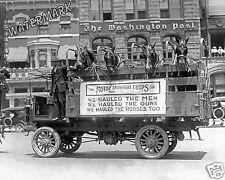 Photograph Parade US Army Motor Transport Truck & Horses 1919  8x10