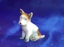 Antique Nice porcelain Jack Russell Smooth Fox terrier dog marked Foreign *