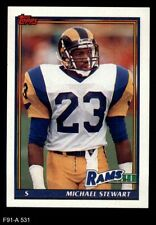 1991 Topps #531 Michael Stewart Rams NM/MT