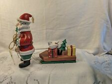 New Vtg The Heartland Santa Pulling Sled by Midwest of Cannon Falls
