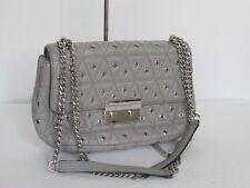 Michael Kors Sloan Grommet Chain Shoulder Grey Leather Handbag