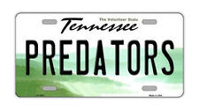 Metal Vanity License Plate Tag Cover - Nashville Predators - Hockey Team