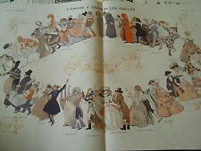 Vingt Siècles d'entrechats des Bacchanale aux ballets Russes Print Art Déco 1911