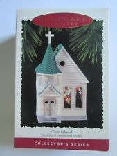 Hallmark Keepsake Nostalgic Houses and Shops Ornament Town Church Stained Glass