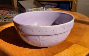 Signature Sorrento Stoneware Grappa (purple) Bowl EUC Debby Segura Designs 2001