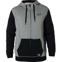 Felpa Uomo Zip e Cappuccio Fox Win Mob Zip Fleece Grigio Heather Graphite Hoodie