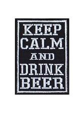 Keep Calm and drink Beer Biker heavy rocker Patch Patch perchas imagen badge sotana
