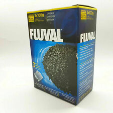 Fluval 3 Pack 100gr 3.52 oz Carbon Aquarium Water Filter 3x100gr For Clear water