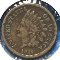 1860 1C Indian Cent (60739)