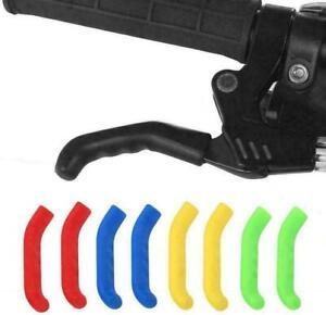 Coloured Brake Lever Grips Protectors Covers Mountain Bike Bmx Mtb Fixie