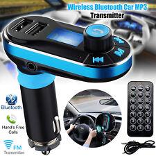 Auto Bluetooth FM Transmitter Wireless Radio MP3 Player Adapter USB Ladegerät DE