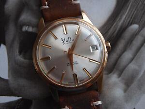 1960s MuDu Doublematic 5259 Gents Automatic Felsa 4007N Cal 25 Jewel Watch GWO