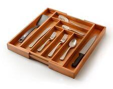 Utensil Drawer Organizer, Bamboo Silverware Organizer Expandable Kitchen . New