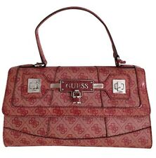 GUESS Women's Signature Shoulder Bag Purse Hobo Satchel Rose/Pink Handbag New!