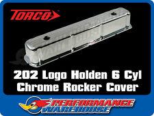 202 LOGO HOLDEN 6 CYL 161 179 186 202 RED BLUE MOTOR CHROME STEEL ROCKER COVER