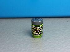 New LEGO Power Bolt Minifigure Soda Drink Brick, Round 1 x 1 Lime Green
