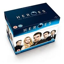 Heroes: The Complete Collection Seasons 1 2 3 4 [Blu-ray, Region Free, 19-Disc]