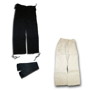 Kung Fu trousers with black sash, Lace-up pants - SPECIAL OFFER
