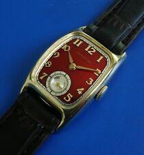 Exquisite Vintage 1941 Mans HAMILTON *Boulton* Hand Wind Red Dial