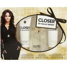 CLOSER By Halle Berry 1.0 oz 30 ml Women Perfume EDP Spray BL & SG 2.5 oz SET 3