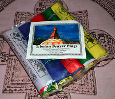 Prayer Flags Lung-ta Tibetan Buddhist  BANDERAS DE ORACION TIBETANAS NEPAL .
