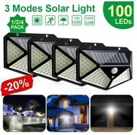 100LED Solar Power Light PIR Motion Sensor Security Outdoor Garden Wall Lamp HOT