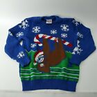 Well Worn Holiday Ugly Christmas Sweater Kids Child Holiday Sloth Candy Cane
