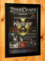 StarCraft Brood War Old Rare Small Poster / Vintage Ad Page Framed Blizzard