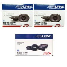 Alpine 6 x 8 Inch 300 Watt 2-Way Car Speakers W/ SPR-10TW 1