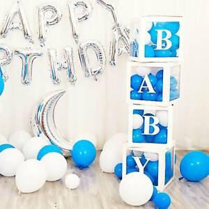 4pcs Baby  Box Wedding Baby Shower Balloon Box Transparent Birthday Party Decor