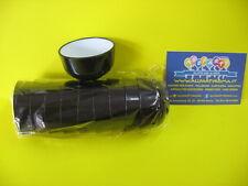 Bicchierino coppetta thai nero- bianco pz.10 feste party finger food