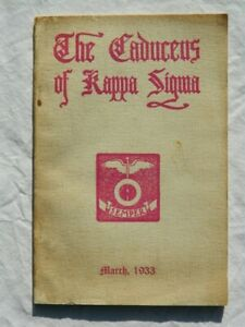Caduceus Kappa Sigma Volume 48 Number 6 Fraternity Yearbook Vintage March 1933
