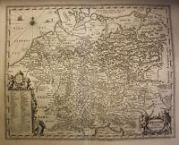 """Kupferstich Petrus Kaerius """"Germaniae veteris Nova Descriptio"""" um 1640 sf"""