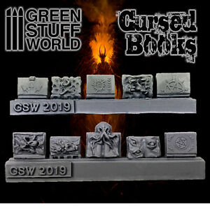 Cursed Books - Resin Dioramas Modeling Wargames Miniatures Scenery Fantasy Hobby