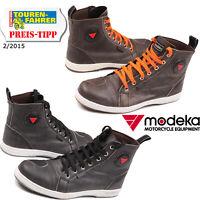 MODEKA Schuhe LANE Motorradschuhe Leder mit Innenschuhverstärkungen High Sneaker